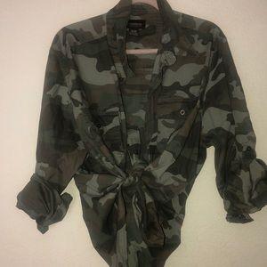 No Boundaries Tops - Camouflage shirt